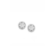 Hulchi Belluni Stud Earrings in 18k White Gold with Diamonds