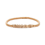 Hulchi Belluni Amore 'Love' Diamonds & 18k Rose Gold Ball Stretch Bracelet