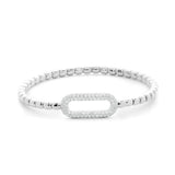Hulchi Belluni Stretch Bracelet in 18k White Gold with Diamond