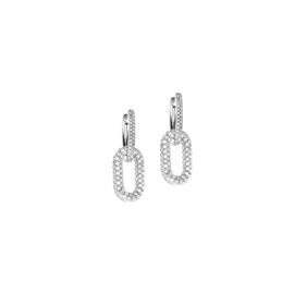 Hulchi Belluni Blueberry Collection Diamond Earrings in 18k White Gold with Diamonds