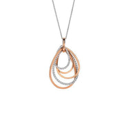 Hulchi Belluni Colori Diamond Necklace in 18k Rose Gold with Diamonds