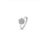 Hulchi Belluni Diamond Flower Shaped Pave Ring