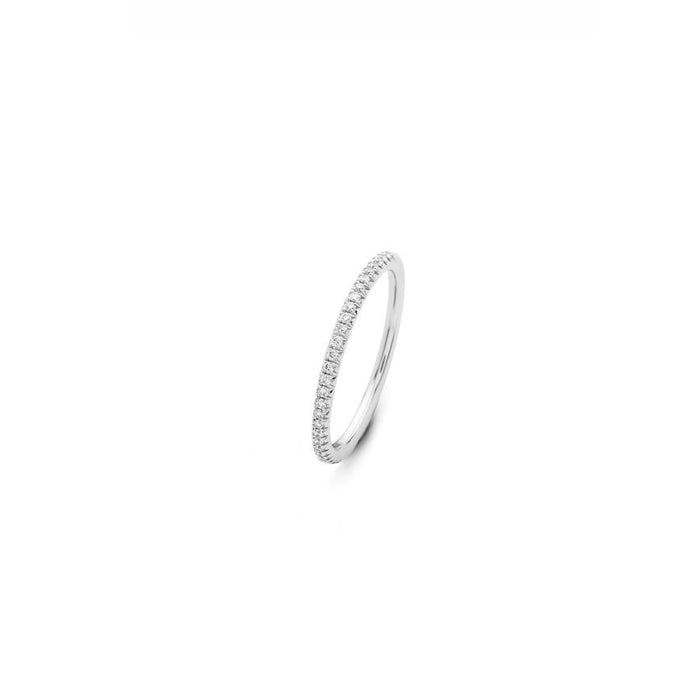Hulchi Belluni Eternity Collection Diamond Ring in 18k White Gold - Orsini Jewellers NZ