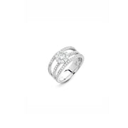 Hulchi Belluni Foglio Diamond Ring in 18k White Gold with Diamonds