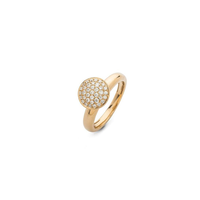 Hulchi Belluni Friendship Ring in 18k Yellow Gold with Diamonds