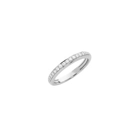 Hulchi Belluni Funghetti Collection Diamond Ring in 18k White Gold