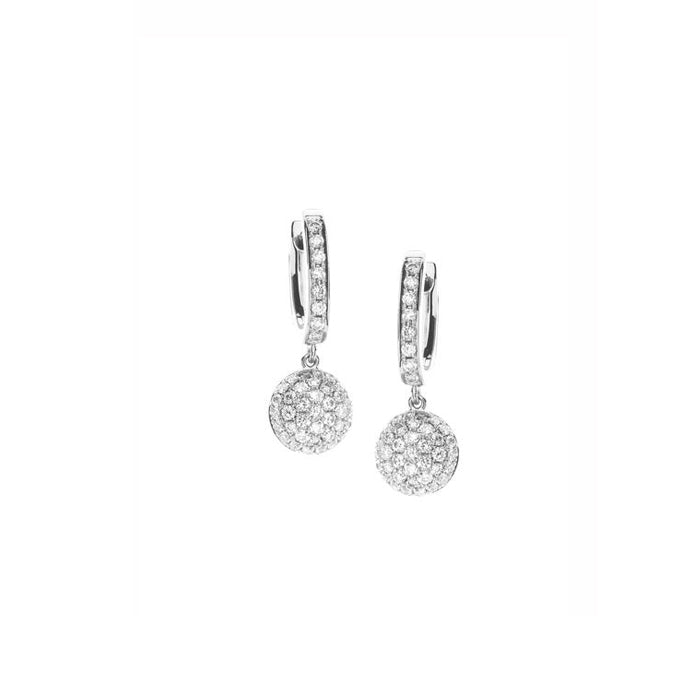 Hulchi Belluni Funghetti Diamond Earrings in 18k White Gold with Diamonds