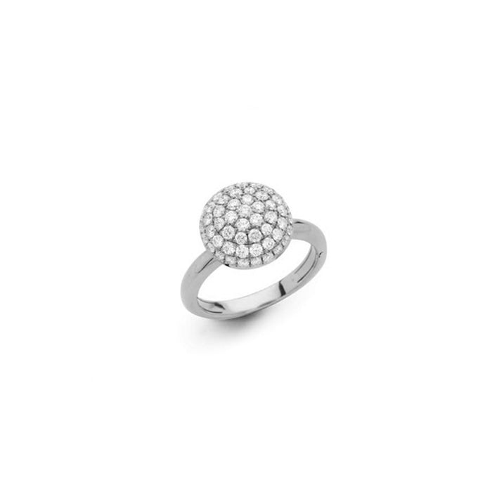 Hulchi Belluni Funghetti Diamond Ring in 18kt White Gold with Diamonds