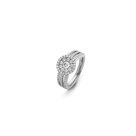 Hulchi Belluni Rondo Diamond Ring in 18kt White Gold with Diamonds