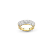 Hulchi Belluni Single Collection Diamond Ring in 18kt Yellow Gold