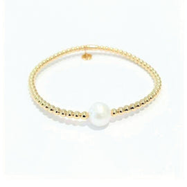 Hulchi Belluni Tresore Collection Bracelet in 18kt Yellow Gold with Pearl