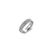 Hulchi Belluni Tzarina Collection Diamond Ring in 18k White Gold