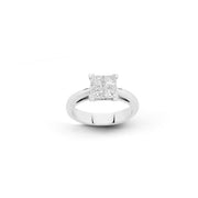 Hulchi Belluni princess cut diamond ring