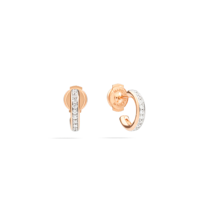Iconica Earrings in 18k Rose Gold with Diamonds
