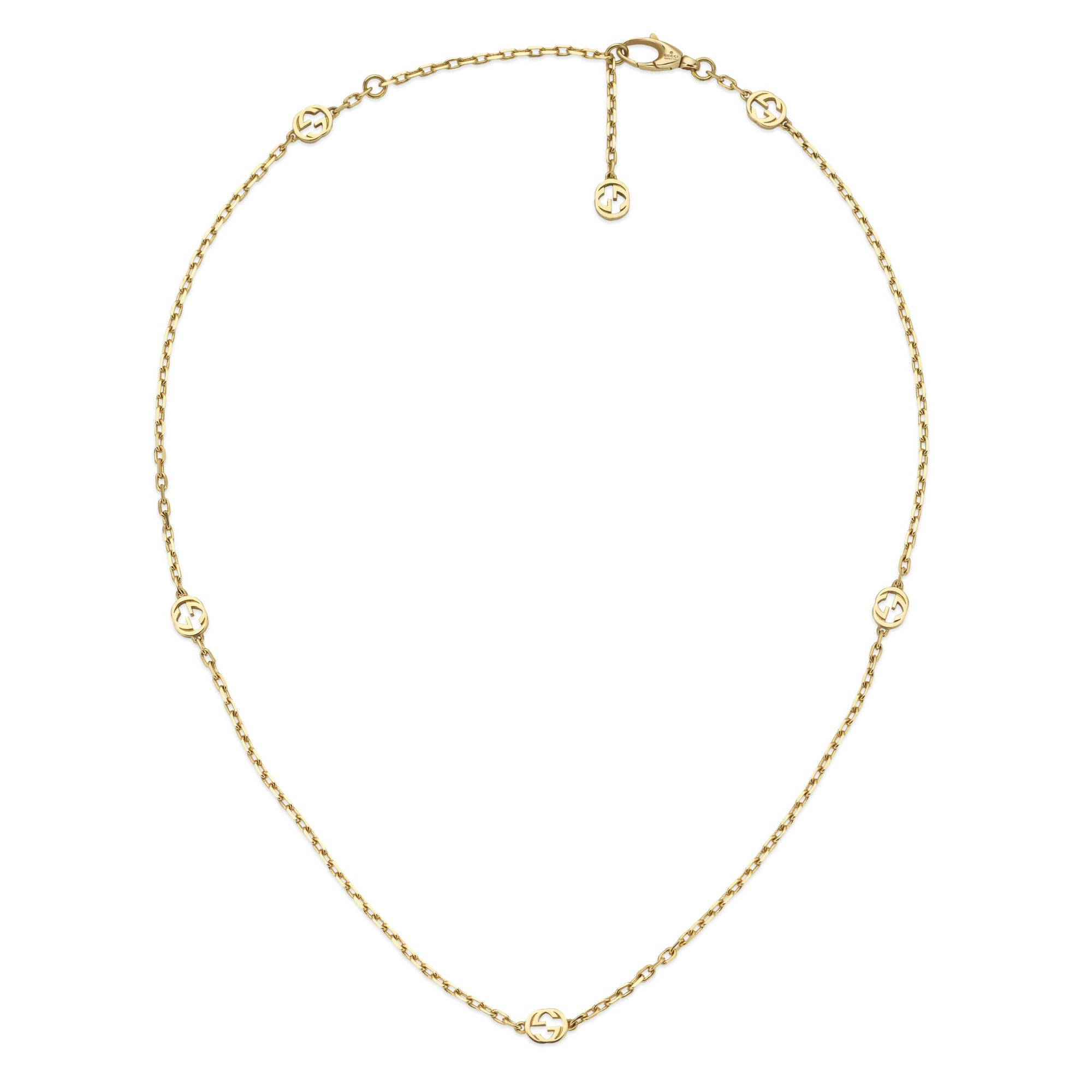 Gucci Interlocking G Necklace in 18k Yellow Gold (Short) - Orsini Jewellers NZ