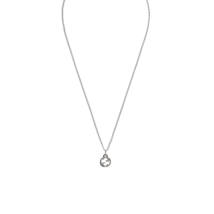 Gucci Interlocking G Necklace in Aged Sterling Silver