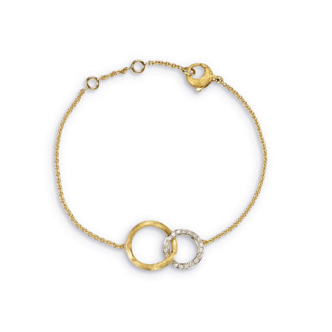 Jaipur 18K Yellow Gold & Diamond Link Bracelet