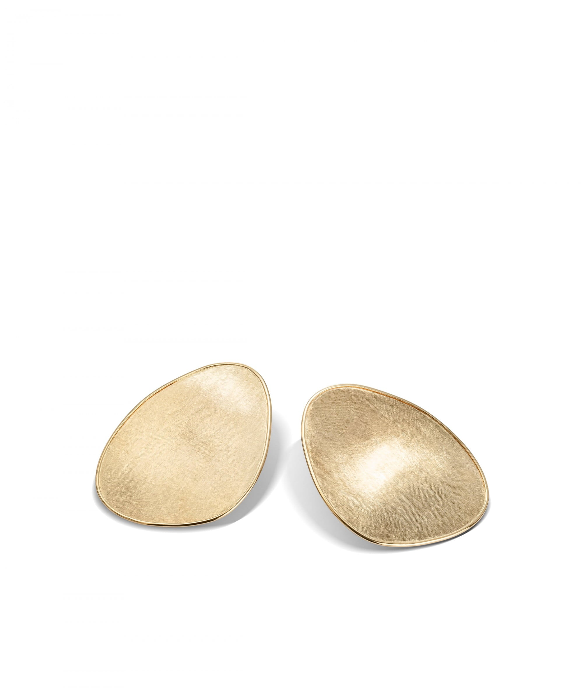 Lunaria Earrings in 18k Yellow Gold Stud Large - Orsini Jewellers NZ