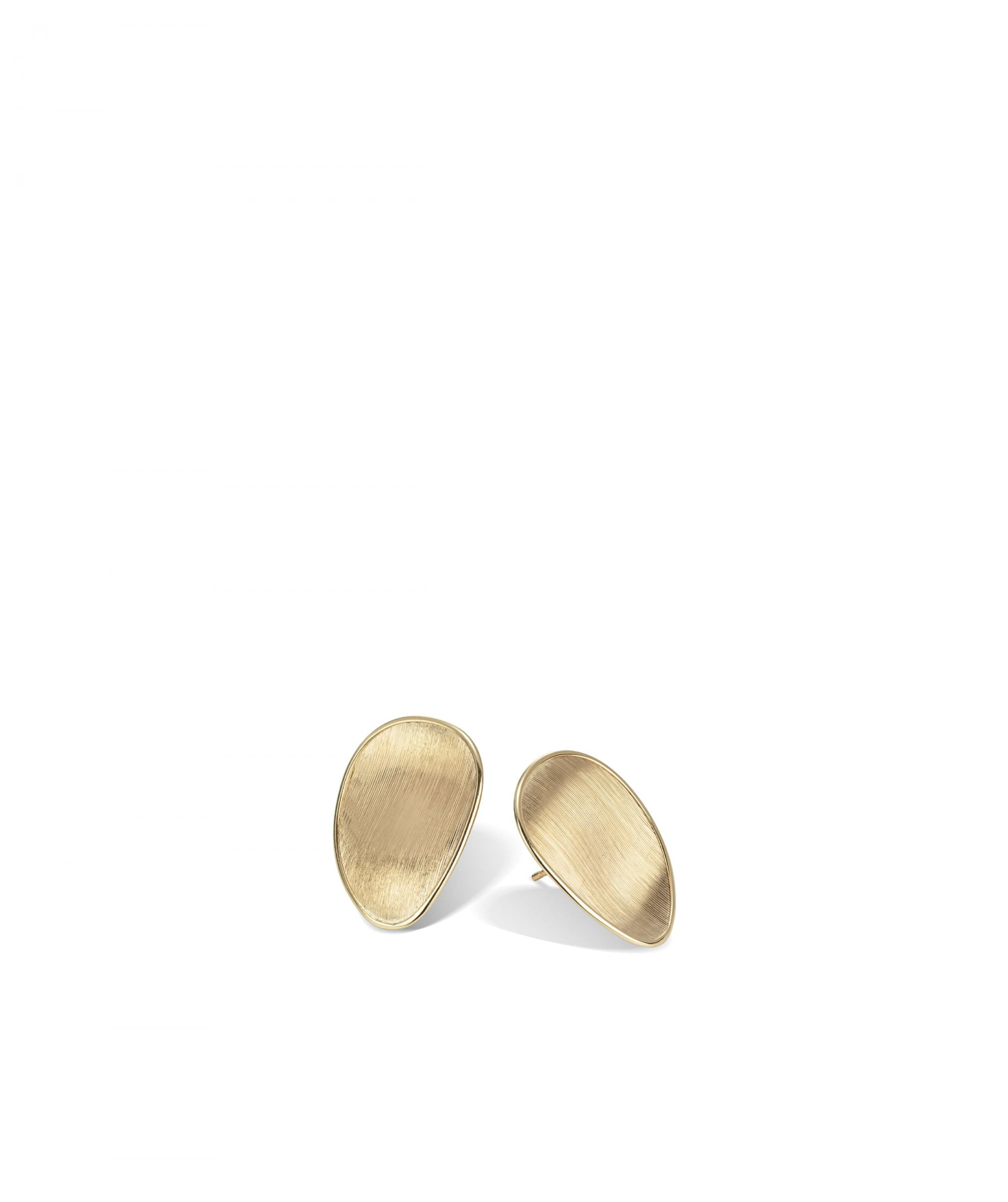 Lunaria Earrings in 18k Yellow Gold Stud Medium - Orsini Jewellers NZ