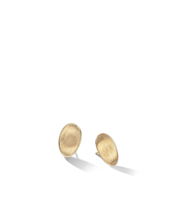 Lunaria Earrings in 18k Yellow Gold Stud Small