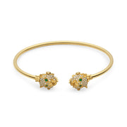 Le Marché des Merveilles Bangle in 18k Yellow Gold with Diamonds and Tzavorite