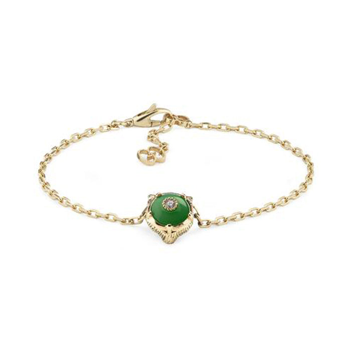 Le Marché des Merveilles Bracelet in 18k Yellow Gold with Jade and Diamonds