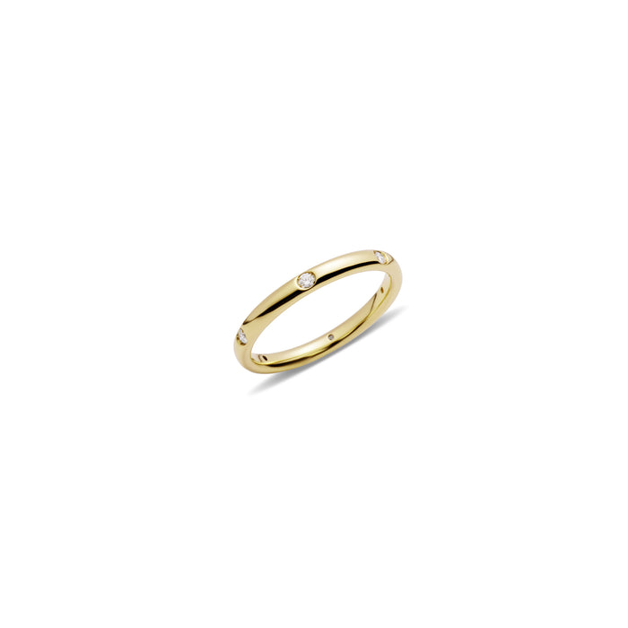 Lucciole Ring in 18k Yellow Gold with Diamonds