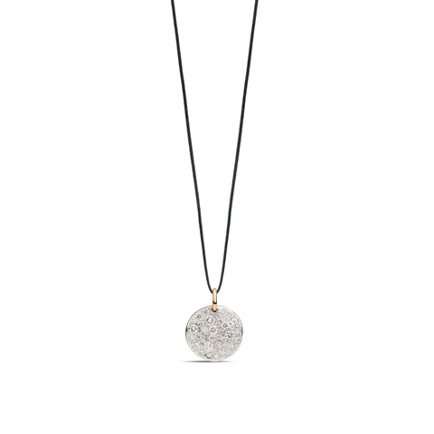 Sabbia Pendant in Rhodium-Plated Rose Gold with Diamonds (CT 0.67)