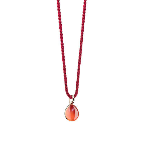 Rouge Passion Orange Sapphire Rose Gold Pendant