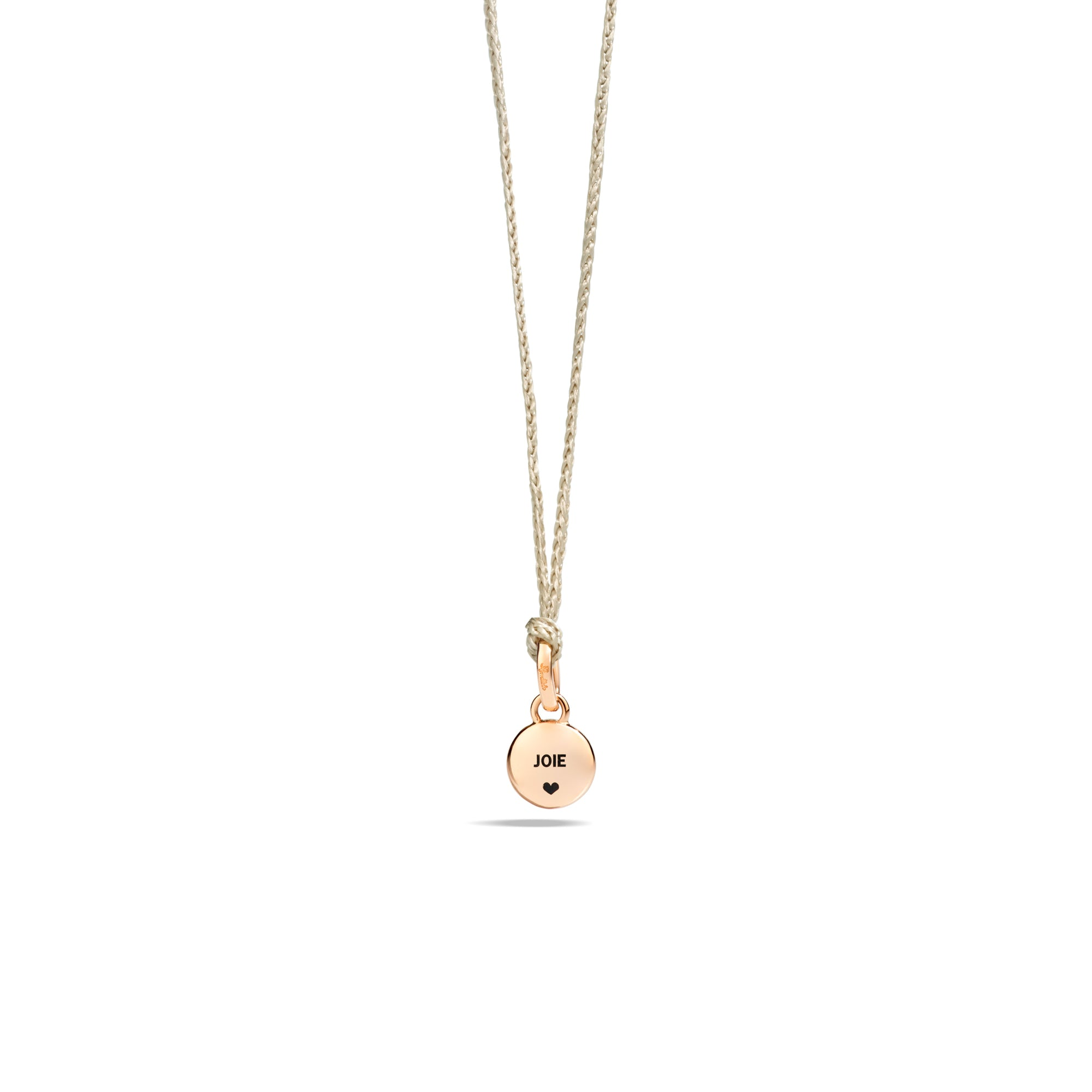 M'ama non M'ama Pendant in 18k Rose Gold with Moonstone and Diamonds - Orsini Jewellers NZ