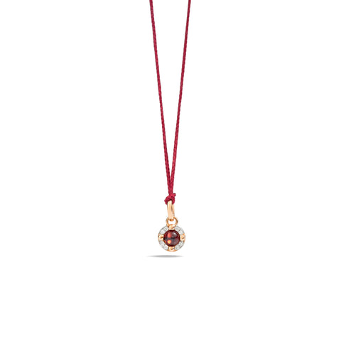 Mama Non Mama Garnet and Diamond Pendant