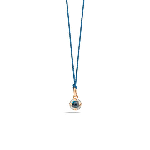 Mama Non Mama London Blue Topaz and Diamond Pendant