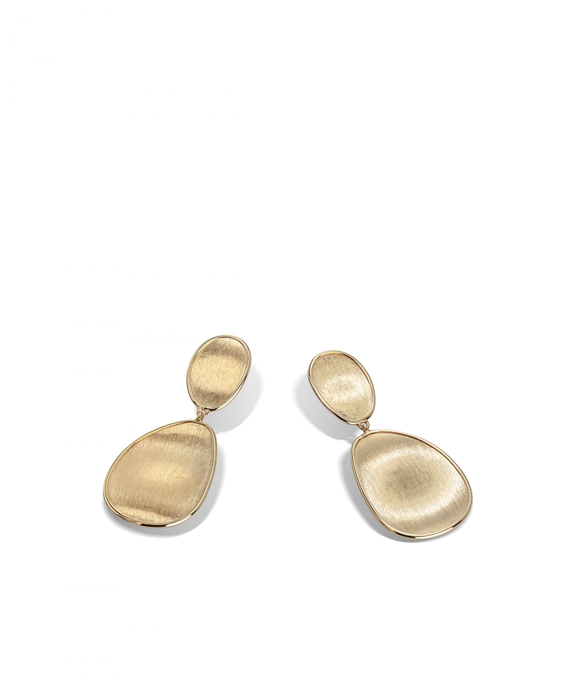 Lunaria Earrings in 18k Yellow Gold Double Drop Small - Orsini Jewellers NZ
