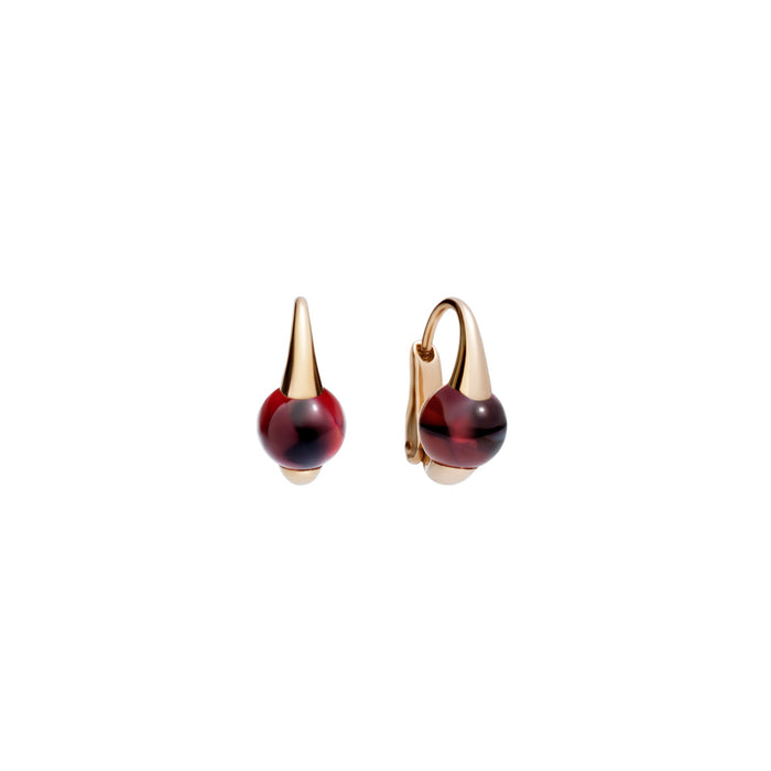 M'ama non M'ama Earrings in 18k Rose Gold with Garnet