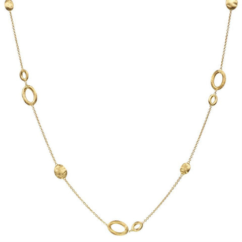 Siviglia 18k Gold Ball & Ring 42cm Necklace