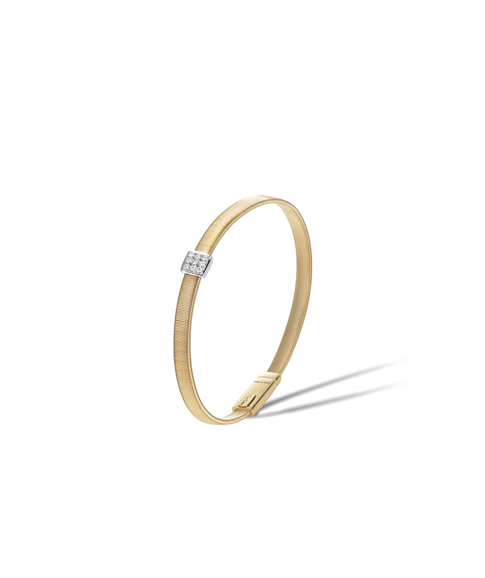 Masai Bracelet in 18k Yellow Gold with Pave Diamonds Single Strand - Orsini Jewellers NZ