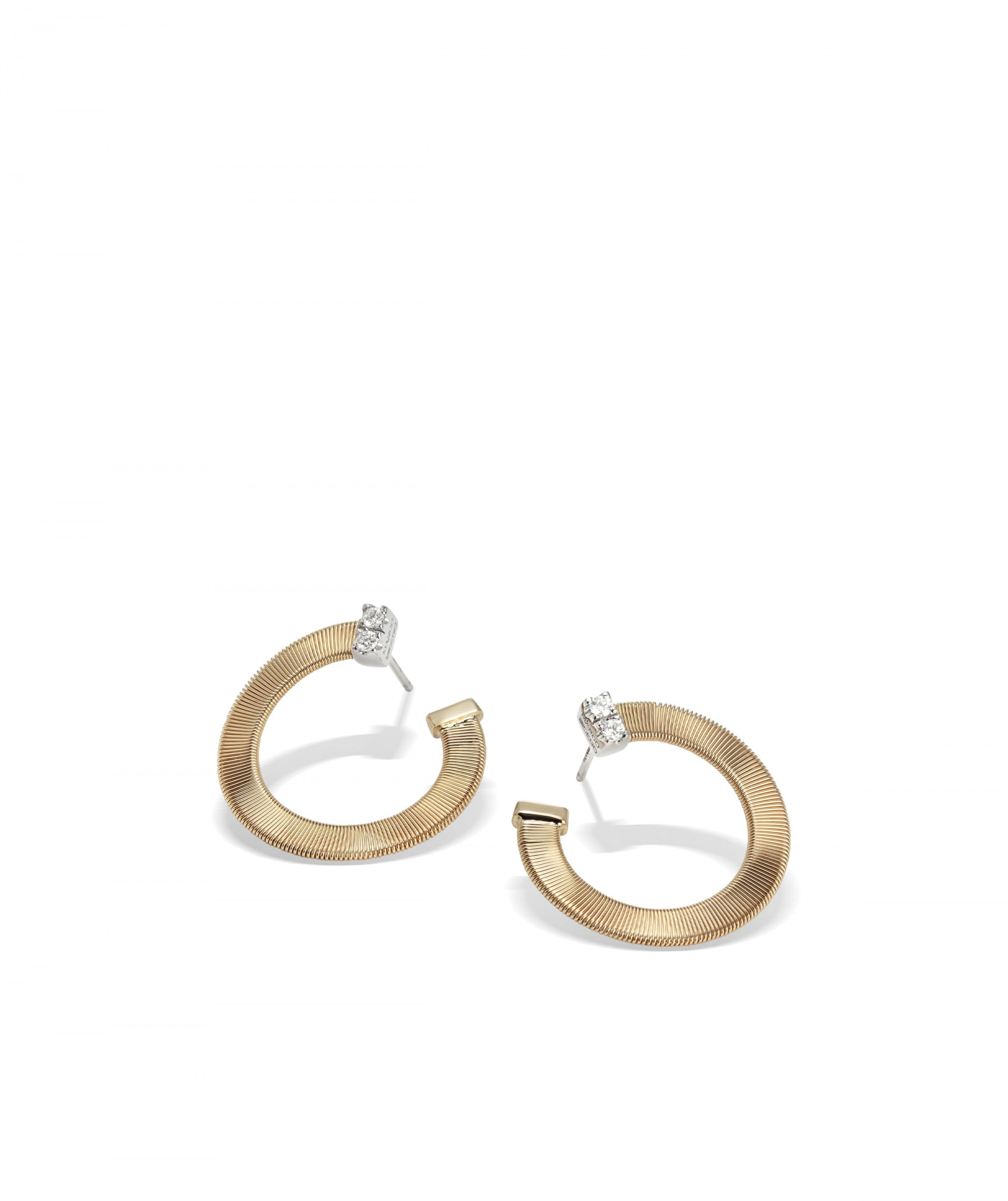 Masai Earrings in 18k Yellow Gold with Pave Diamonds - Orsini Jewellers NZ