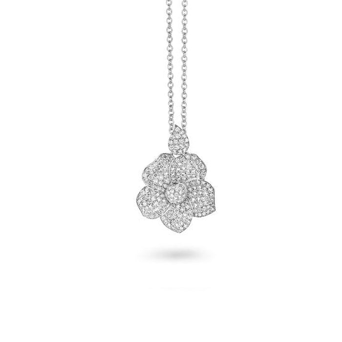 Monoi Pendant in 18k White Gold with Diamonds - Orsini Jewellers NZ