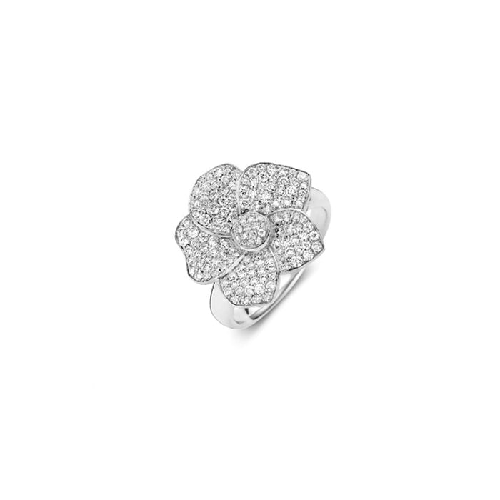 Monoi Ring in 18k White Gold with Pave Diamonds - Orsini Jewellers NZ