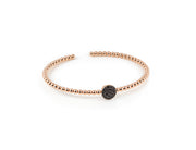 Palladio Bangle in 18k Rose Gold with Black Sapphires
