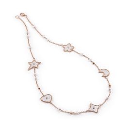 Palladio Necklace in 18k Rose Gold with Mother of Pearl