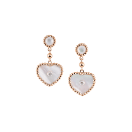 Palladio Drop Earrings in 18k Rose Gold with Mother of Pearl