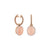 Palladio Earrings in 18k Rose Gold with Chalcedony Pink and Diamonds