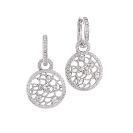 Amalfi Earrings in 18k White Gold with Diamonds