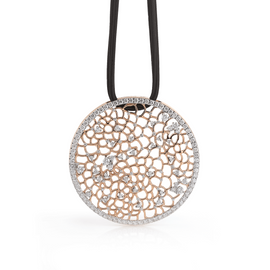 Amalfi Large Pendant in 18k Rose Gold with Diamonds