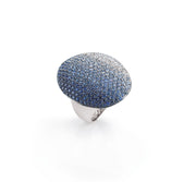 Dolce Vita Ring in 18k White Gold with Sapphires and Diamonds