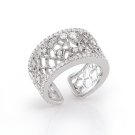 Amalfi Ring in 18k White Gold with Diamonds