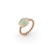 Palladio Ring in 18k Rose Gold with Prasiolite