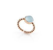 Palladio Ring in 18k Rose Gold with Blue Topaz