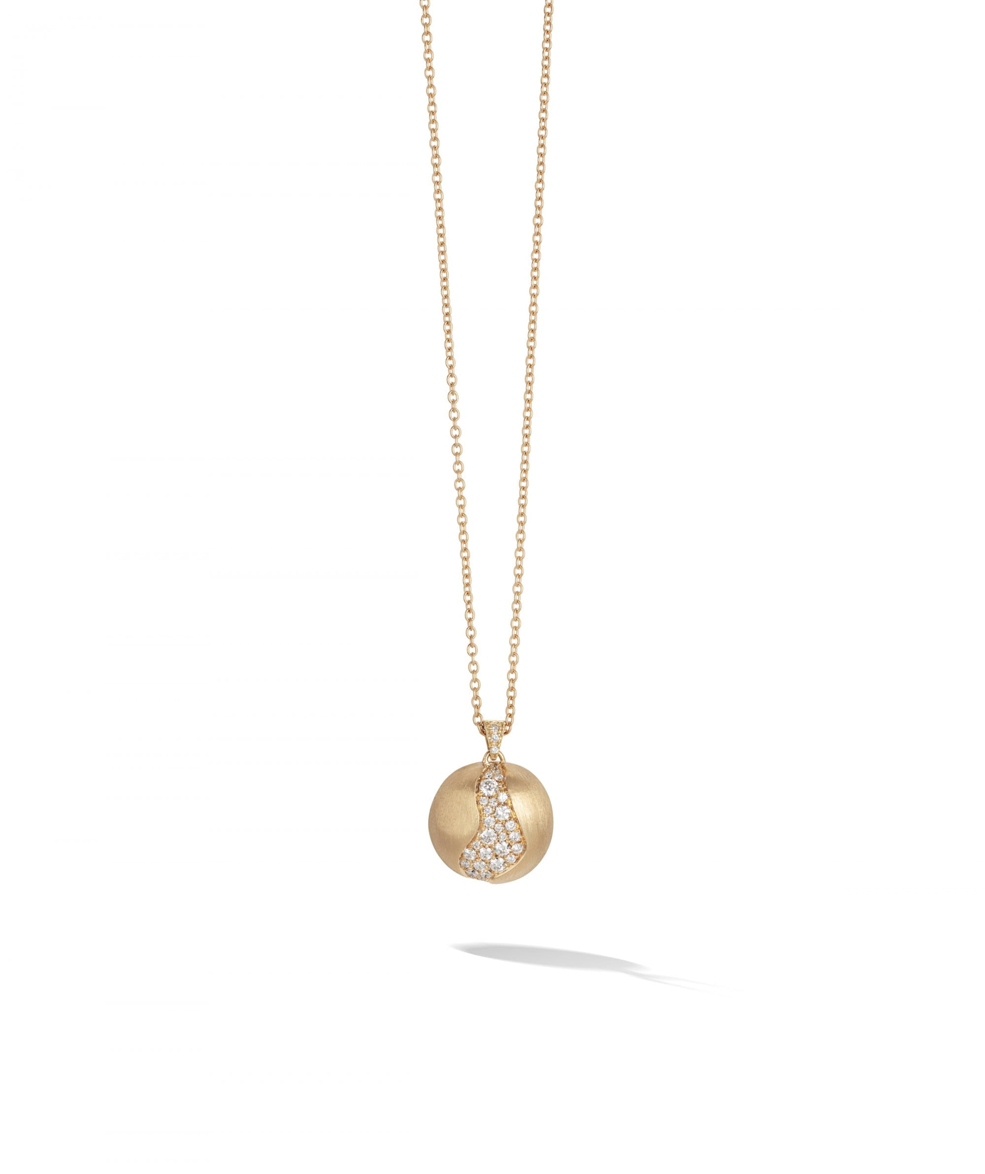 Africa Constellation Necklace in 18k Yellow Gold with Diamonds Long - Orsini Jewellers NZ